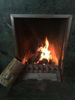 Real fires - logs and coal provided