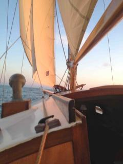 Our wooden sailboat