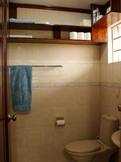 The KitKat room has its own private bathroom with a walk-in shower.