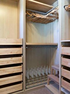 Full size master suite closet