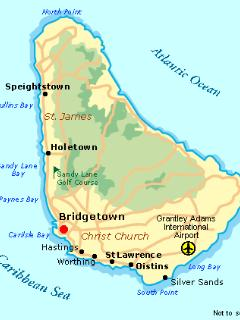 The island of Barbados. We are located on the South Coast, Worthing Christ Church.