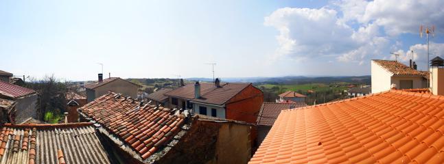 Vistas desde la terraza del apartamento.