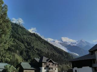 The view - Mont Blanc and the Glacier des Bossons