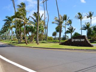 Entrance to the Turtle Bay Resort and this condo on Oahu's famous north shore.