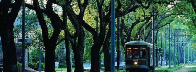 The streetcar on Saint Charles, 3 blocks away