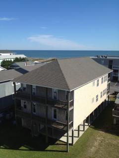 Back view of Silver Seas Duplex showing backporches