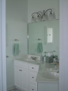 Master Bath With Double Sinks, Medicine Cabinet, and Lots of Drawers