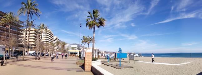 views between building and  promenade