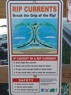 Be Careful of rip currents in the ocean