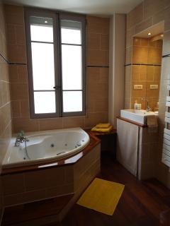 Salle de bain  avec 1 cabine de douche et jacuzzi / Bathroom  with shower and jacuzzi
