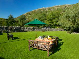 Breakfast beneath the fells in our glorious gardens!
