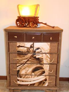 Cool cowboy dresser in bedroom #3.