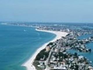 SKIES ABLAZE Directly On The Sand of Sunset Beach, Treasure Island