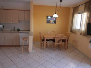 Dining area and kitchen in apartment in Herzliya