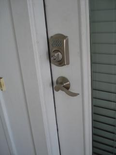 keypad lock - no worrying about keys!