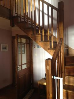 Hallway and wooden staircase