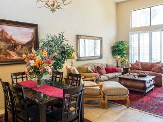 open living space, high spacious ceilings.