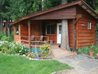 The Last Resort Vacation Cabin is near Sandpoint, Idaho and just a half day's drive to Glacier.