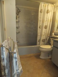 The main floor bathroom has a full bath/shower.