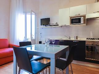 Modern flat with balcony, WiFi and A/C in city center