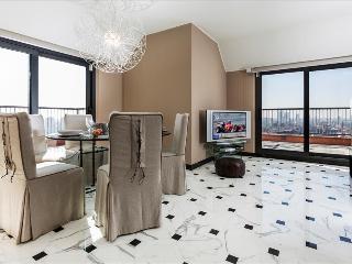 Elegant penthouse in a skyscraper