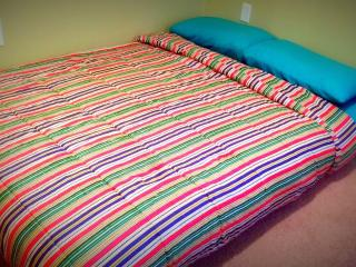 2 nd bed room with air mattress only. Maximum 2 adults.