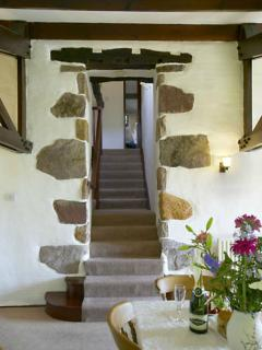 Stone entrance to upstairs bedrooms