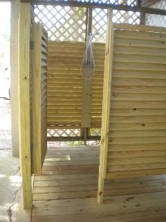 Outdoor shower, hot & cold