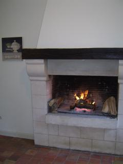 Chateau La Perriere original open fire, perfect for those winter evening or for Santa Claus