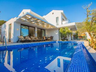 3 bedroom luxury villa rental in Kalkan town, sea