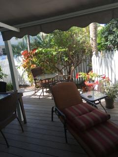 Private garden and deck-1
