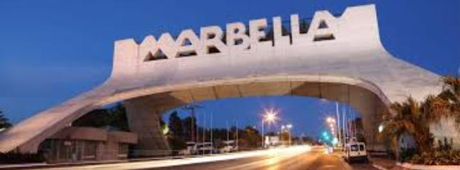 The famous Marbella sign, a few minutes drive away