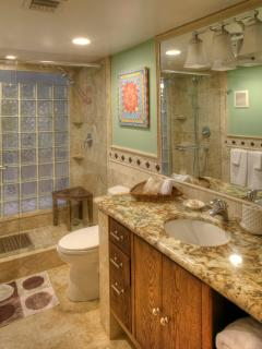 I love the Master Bathroom - it's the fab showers of course - and the bright colors.