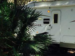 Beautiful FULLY LOADED RV on wooded campsite