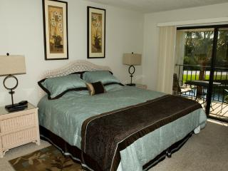 Master bedroom has a king size bed, TV, DVD and HBO Comcast cable.