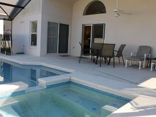 Screened in pool area with lanai - lots of sun and shade!
