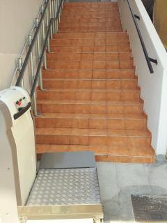 Disable friendly entrance with Electric Wheelchair ramp