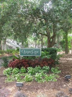 Entrance to Ocean Cove Club residential area.