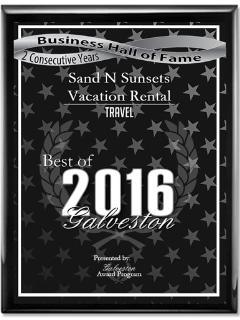 Galveston Business Hall of Fame Award 2016