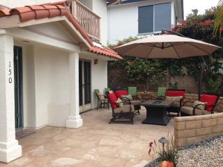 Patio in front with fire pit.  BBQ around corner BEST OCEAN VIEWS FROM HERE!