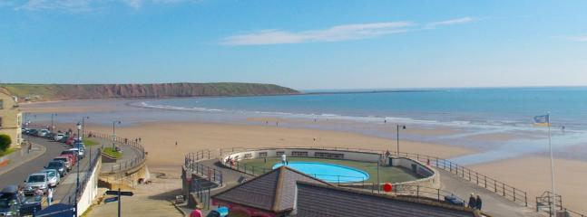 Filey beach looking towards Filey Brigg.