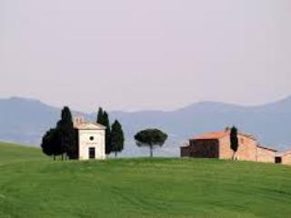 the famous tiny church of Vitaleta