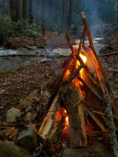 Creek-side Campfire from firepit