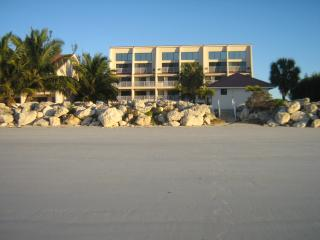 White sand beach in front of our complex