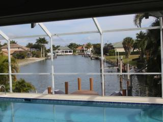 3 Bed 3 Bath house with pool on channel with dock