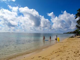 Kahala Beach right across the street