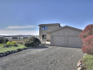 Our Bodega Bay home with panoramic view of Pacific Ocean, Bodega Head, and Bodega Bay.