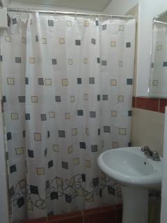 Baño de dormitorio principal, ducha con agua caliente