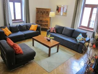 Apartment 1: Living room - with 2 double sofa beds and an armchair. Spacious and comfortable.