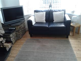 Comfortable seating to relax and watch tv, read and enjoy a glass of wine.